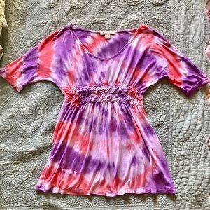 Tie Dyed Empire Waist Shirt